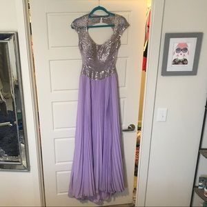 Jovani lilac formal gown